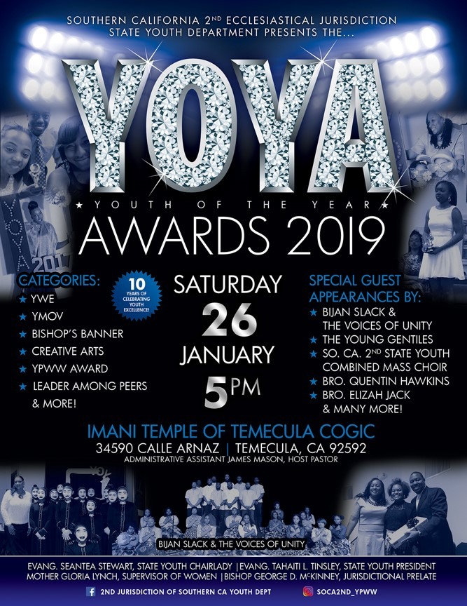 January 26, 2019 - Youth of the Year Awards (YOYA) - Southern